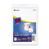 Avery Handwritten Removable ID Label, Removable - 1008 / Pack - White, Price/PK