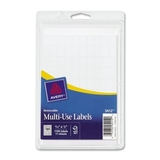 "Avery Handwritten Removable ID Label, 0.31"" Width x 0.5"" Length - Removable/ Pack - White, Price/PK"