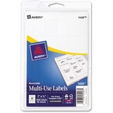 "Avery Handwritten Removable ID Label, 1"" Width x 0.75"" Length - Removable - 1000 / Pack - White, Price/PK"
