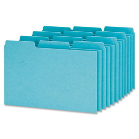 "Esselte Pressboard Filing Index Card Guide, Blank - 3 Tab(s)/Set - 6"" x 4"" - 100 / Box - Blue Divider, Price/BX"