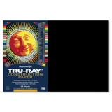 "Tru-Ray Construction Paper, 18"" x 12"" - Black, Price/PK"