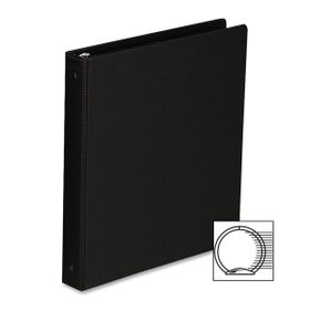 "Sparco Round Ring Binder, Statement - 5.5"" x 8.5"" - 1"" Capacity - 1 Each - Black, Price/EA"