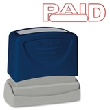 "Sparco Pre-Inked Stamp, PAID Message Stamp - 1.75"" x 0.62"" - Red, Price/EA"
