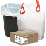 Webster Drawstring Trash Liner, 0.9mil Thickness - Resin - 200 / Box - White, Price/BX
