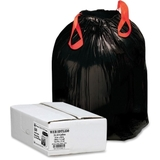 Webster Drawstring Trash Liner, 33 gal - 1.2mil Thickness - Resin - 150 / Box - Black, Price/BX