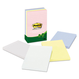 Recycled Notes, 4 x 6, Lined, Sunwashed Pier, 5 100-Sheet Pads/Pack, Price/PK