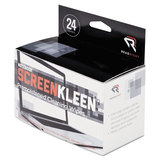 Notebook ScreenKleen Pads, Cloth, 2 1/2 x 5 1/4, White, 24/Box, Price/BX