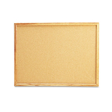 Cork Bulletin Board, 24 x 18, Natural, Oak-Finished Frame, Price/EA